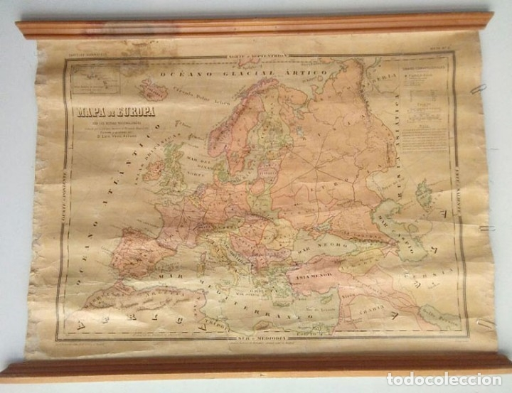 MAPA POLÍTICO DE EUROPA, AÑO1922 (Coleccionismo - Mapas - Mapas actuales (desde siglo XIX))