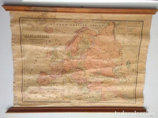 Mapas contemporáneos: MAPA POLÍTICO DE EUROPA, AÑO1922 - Foto 3 - 25933176