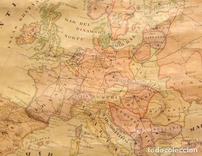 Mapas contemporáneos: MAPA POLÍTICO DE EUROPA, AÑO1922 - Foto 2 - 25933176