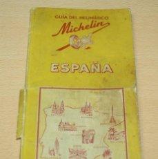 Mapas contemporáneos: GUIA DE NEUMÁTICO MICHELIN ESPAÑA - 1952-53. Lote 133764582