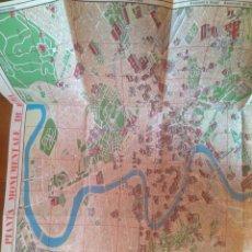 Mapas contemporáneos: PLANO AÑOS 70- NUEVO PLANO DE ROMA , FOTORÁPIDACOLOR TERNI. Lote 177680390