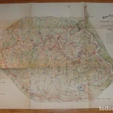 Mapas contemporáneos: (TC-135) INTERESANTE MAPA TOPOGRAFICO DE MONTSERRAT 2 EDICION 1928. Lote 134138846