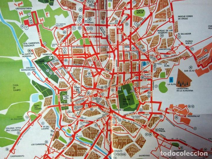 Mapa Lineas Emt Madrid.Plano De Lineas Itinerarios Emt Madrid 197 Comprar Mapas Contemporaneos En Todocoleccion 134223290