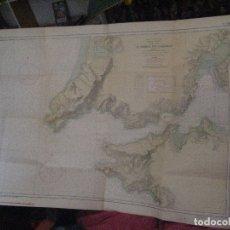 Mapas contemporâneos: CARTA NAUTICA GALICIA, RIA DE EL FERROL 1961 INSTITUTO IDROGRAFICO MARIANA 110 X85. Lote 134798542