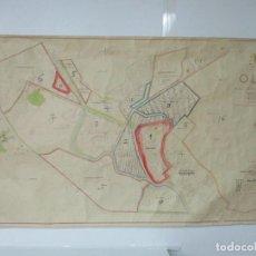 Mapas contemporáneos: MAPA - PLANO CIUDAD DE OLOT - PLAN GENERAL DE ORDENACIÓN - MINISTERIO DE LA VIVIENDA - ESCALA 1:2000. Lote 135684039