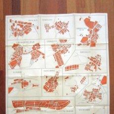 Mapas contemporáneos: ANTIGUO PLANO DE MADRID EL FIRMAMENTO. TODOS LOS BARRIOS. VALLECAS, CARABANCHEL, HORTALEZA, ETC. Lote 135808526