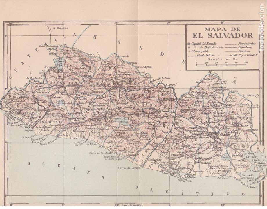 Mapa De El Salvador 1954 Kaufen Zeitgenössische Karten In