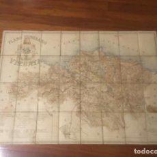 Mapas contemporáneos: ANTIGUO MAPA ITINERARIO PROVINCIA DE VIZCAYA 1894 . Lote 135999198