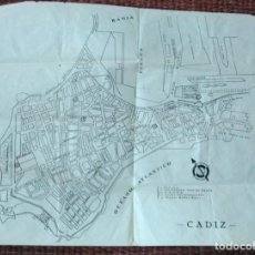 Mapas contemporâneos: ANTIGUO PLANO MAPA DE CADIZ. Lote 136131894
