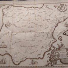 Mapas contemporáneos: BANCO DE VALENCIA,1900-1945, MAPA BANCARIO.56X44. Lote 136268190