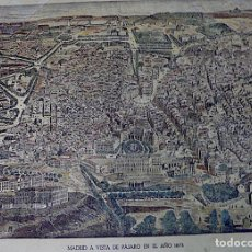 Mapas contemporáneos: ENORME PLANO DE MADRID A VISTA DE PAJARO 1873 ORIGINAL. Lote 229220200
