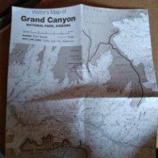 Mapas contemporáneos: VISITOR'S MAP OF GRAND CANYON 1989. Lote 137203006