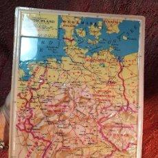 Mapas contemporáneos: MAPA ESCOLAR COLEGIO ALEMANIA -LÁMINA DE PLÁSTICO EN RELIEVE. EDIZIONE RICO FIRENZE. AÑOS 60.. Lote 137349370