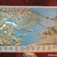 Mapas contemporáneos: MAPA ESCOLAR COLEGIO SUPERFICIE TERRESTRE -LÁMINA DE PLÁSTICO EN RELIEVE. ED. RICO FIRENZE. AÑOS 60.. Lote 137349834