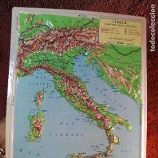 Mapas contemporáneos: MAPA ESCOLAR COLEGIO ITALIA FISICO -LÁMINA DE PLÁSTICO EN RELIEVE. ED. RICO FIRENZE. AÑOS 60.. Lote 137350354