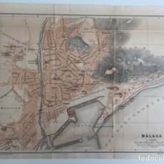 Mapas contemporáneos - MAPA DE MALAGA DE 1899 POR WAGNER & DEBES , LEIPZIG - 137395654
