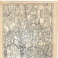 Mapas contemporáneos: BADAJOZ, MAPA ENCARTADO EN ANUARIO COMERCIAL BAILLY BAILLIERE 1904, PAPEL CARTULINA. Lote 137588202