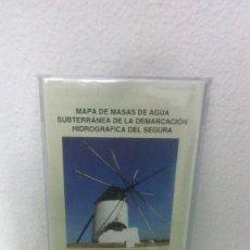Mapas contemporáneos: MAPA DE MASAS DE AGUA SUBTERRANEA DE LA DEMARCACION HIDROGRAFICA RIO SEGURA. Mº MEDIO AMBIENTE.. Lote 138690538