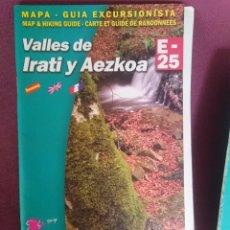 Mapas contemporâneos: GUIA EXCURSIONISTA VALLES DE IRATI Y AEZKOA -SIN MAPA -SOLAMENTE LA GUIA --- REFM1E2. Lote 140167854