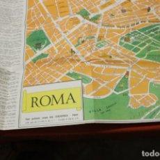 Mapas contemporáneos: MAPA ROMA, 1956, NUOVA PIANTA DI ROMA CON RETE AUTOFILOTRANVIARIA. Lote 140173374