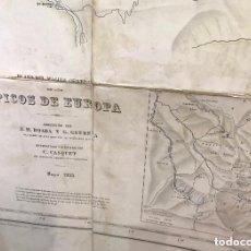 Mapas contemporáneos: 1608.- PICOS DE EUROPA - PLANO DEL MACIZO CENTRAL DE LOS PICOS DE EUROPA AÑO 1935. Lote 140291122