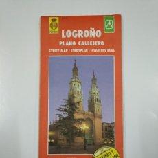 Mapas contemporáneos: LOGROÑO PLANO CALLEJERO. STREET MAP. EVEREST ESCALA 1:7000. + MAPA DE LA RIOJA. TDKP11. Lote 140296782