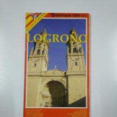 Mapas contemporáneos: LOGROÑO PLANO DE LA CIUDAD. + MAPA PROVINCIAL. DISTRIMAPAS TELSTAR. TDKP11. Lote 140297846