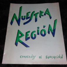 Mapas contemporáneos: PAPEL ANTIGUO. CUADERNOS DE EDUCACIÓN NUESTRA REGIÓN. MURCIA, 1985, MAPAS CASTILLOS Y MONUMENTOS. Lote 210476742