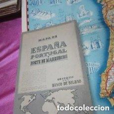 Mapas contemporáneos: MAPA DE ESPAÑA PORTUGAL Y NORTE DE MARRUECOS. Lote 140656046
