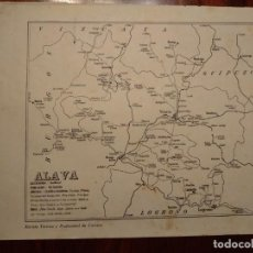 Mapas contemporáneos: ALAVA - AÑO 1943 - PLANO DE LA REVISTA TÉCNICA Y PROFESIONAL DE CORREOS. Lote 141251614