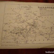 Mapas contemporáneos: ZARAGOZA, TARAZONA, SARIÑENA, ETC. - AÑO 1943 - PLANO DE LA REVISTA TÉCNICA Y PROFESIONAL DE CORREOS. Lote 141252490