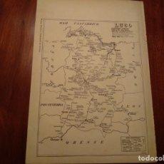 Mapas contemporáneos: LUGO, BECERREA, SARRIA, ETC. - AÑO 1943 - PLANO DE LA REVISTA TÉCNICA Y PROFESIONAL DE CORREOS. Lote 141252670