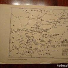 Mapas contemporáneos: JAEN, QUESADA, BAENA , ETC. - AÑO 1943 - PLANO DE LA REVISTA TÉCNICA Y PROFESIONAL DE CORREOS. Lote 141257106