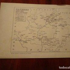 Mapas contemporáneos: CACERES, GUADALUPE, CORIA , ETC. - AÑO 1943 - PLANO DE LA REVISTA TÉCNICA Y PROFESIONAL DE CORREOS. Lote 141258026