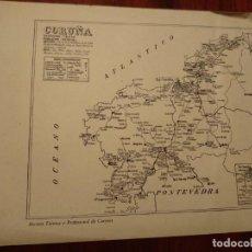 Mapas contemporáneos: LA CORUÑA, ARZUA, MELLID , ETC. - AÑO 1943 - PLANO DE LA REVISTA TÉCNICA Y PROFESIONAL DE CORREOS. Lote 141258286