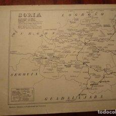 Mapas contemporáneos: SORIA, ALMAZAN, ARIZA , ETC. - AÑO 1943 - PLANO DE LA REVISTA TÉCNICA Y PROFESIONAL DE CORREOS. Lote 141258622
