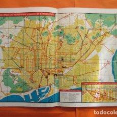 Mapas contemporáneos: PLANO 1967 BARCELONA Y SUS TRANSPORTES TRANVIA METRO AUTOBUS TROLEBUSES. Lote 218999680
