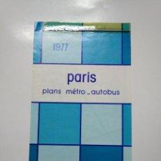 Mapas contemporáneos: PLANO DE METRO AUTOBUS DE PARIS. 1977. TDKP13. Lote 141892350