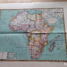 Mapas contemporáneos: MAPA DE AFRICA. MAPAS PALUZÍE.. Lote 142038034