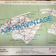 Mapas contemporáneos: MAPA DE CARRETERAS ENTELADO ( REAL AUTOMOVIL CLUB DE ESPAÑA ) MALLORCA,MENORCA,IBIZA Y FORMENTERA . Lote 142527486