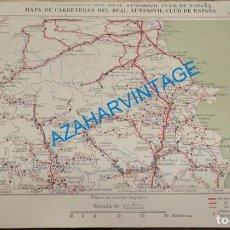 Mapas contemporáneos: MAPA DE CARRETERAS ENTELADO ( REAL AUTOMOVIL CLUB DE ESPAÑA ) GERONA, PERPIGNAN, PUIGCERDA Y VICH E. Lote 142528682