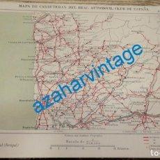 Mapas contemporáneos: MAPA DE CARRETERAS ENTELADO ( REAL AUTOMOVIL CLUB DE ESPAÑA ) OPORTO,BRAGA, VILLA REAL (PORTUGAL) E. Lote 142572162