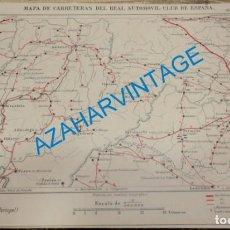 Mapas contemporáneos: MAPA DE CARRETERAS ENTELADO ( REAL AUTOMOVIL CLUB DE ESPAÑA ) ZAMORA, BRANGANZA (PORTUGAL) ESCALA 1. Lote 142572294