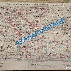 Mapas contemporáneos: MAPA DE CARRETERAS ENTELADO ( REAL AUTOMOVIL CLUB DE ESPAÑA ) VALLADOLID Y PALENCIA, TORO, ROA DE D. Lote 142572454