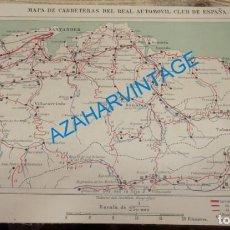 Mapas contemporáneos: MAPA DE CARRETERAS ENTELADO ( REAL AUTOMOVIL CLUB DE ESPAÑA ) SANTANDER ESCALA 1: 250.000 - DEL. Lote 142575814