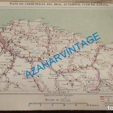 Mapas contemporáneos: MAPA DE CARRETERAS ENTELADO ( REAL AUTOMOVIL CLUB DE ESPAÑA ) BILBAO ESCALA 1: 250.000 - DEL R.. Lote 142576478