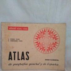 Mapas contemporáneos: ATLAS VICENS VIVES 1961. Lote 142595750