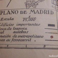Mapas contemporáneos: ANTIGUO MAPA DE MADRID - CON LINEAS DE TRANVIA Y AUTOBUSES - AÑOS 30-40 - COMPLETO - 40 X 56 CM. Lote 142751478
