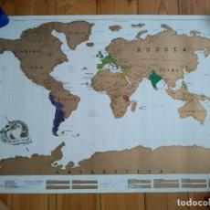 Mapas contemporáneos: MAPAMUNDI SCRATCH MAP - MAPA TIPO RASCA Y GANA D4. Lote 142871894