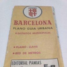 Mapas contemporáneos: CALLEJERO BARCELONA AÑOS 90. Lote 142929466